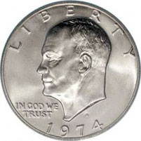 Eisenhower Silver Dollar For Sale