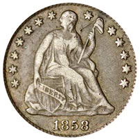 Seated Liberty Half Dimes For Sale Value