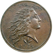 Flowing Hair Large Cent For Sale