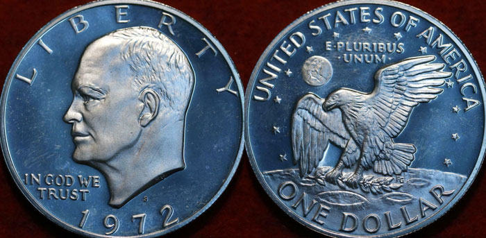 Eisenhower Dollar Silver Content Blue Ike